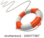 Lifebuoy In The Air 3d...