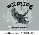 outline vector of an eagle with ...