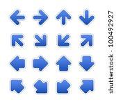 cobalt arrow sign sticker web... | Shutterstock .eps vector #100492927
