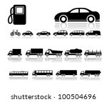 Set of car. icon - stock vector