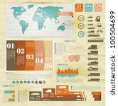 Detail infographic vector illustration with. Map of world, car infographics and Information Graphics. - stock vector