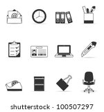 office icon set.transparent... | Shutterstock .eps vector #100507297