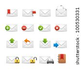 e-mail Icons - Set 2 of 3 // Soft Series - stock vector