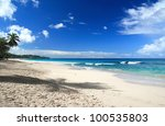 caribbean sea beach | Shutterstock . vector #100535803