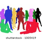 vector image of multicolored... | Shutterstock . vector #1005419