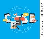 social media  seo  networking ... | Shutterstock .eps vector #1005425437