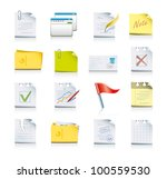files and folders icon set - stock vector