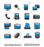 gadget icons - stock vector