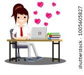 cartoon flat illustration  ... | Shutterstock .eps vector #1005605827