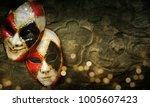 traditional carnival venetian... | Shutterstock . vector #1005607423