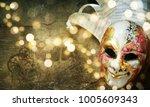 traditional carnival venetian... | Shutterstock . vector #1005609343