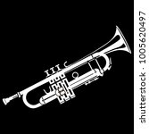 trumpet icon on black...   Shutterstock .eps vector #1005620497