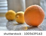 three citrus lined up all in a... | Shutterstock . vector #1005639163