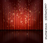 stage with spotlight and bokeh... | Shutterstock .eps vector #1005642997