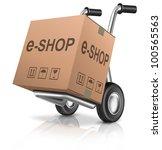web e shop icon online internet ... | Shutterstock . vector #100565563