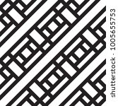 black and white geometric... | Shutterstock .eps vector #1005655753