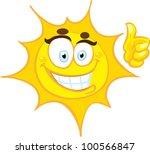 smiling sun   Shutterstock .eps vector #100566847