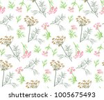 vector seamless floral pattern... | Shutterstock .eps vector #1005675493