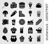 food and drinks icon set vector.... | Shutterstock .eps vector #1005679507
