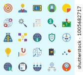 icons set about marketing. with ... | Shutterstock .eps vector #1005682717