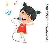 vector illustration of kid... | Shutterstock .eps vector #1005691807