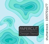 papercut layers on white paper. ... | Shutterstock .eps vector #1005701677
