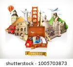 travel  3d vector illustration | Shutterstock .eps vector #1005703873