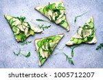sandwichs with soft cheese ... | Shutterstock . vector #1005712207