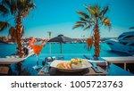 fried shrimps with tartar sauce ... | Shutterstock . vector #1005723763