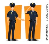 police officers   vector... | Shutterstock .eps vector #1005728497