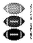 rugby ball halftone style on... | Shutterstock .eps vector #1005733057