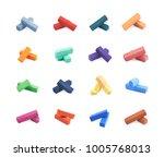 pastel crayon chalk broken in...   Shutterstock . vector #1005768013