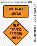 road sign. warning. slow...   Shutterstock .eps vector #1005768607
