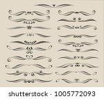 set of decorative elements.... | Shutterstock .eps vector #1005772093