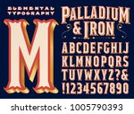 a vintage style signage or... | Shutterstock .eps vector #1005790393