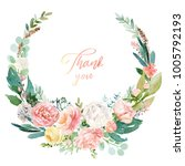 watercolor floral illustration  ... | Shutterstock . vector #1005792193
