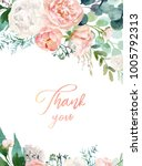 Stock photo watercolor floral illustration wreath frame with bright peach color white pink vivid flowers 1005792313