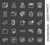 business icon set with shop