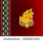 design of indian marriage... | Shutterstock .eps vector #1005819163