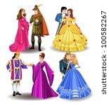 fairytale couples | Shutterstock .eps vector #100582267