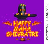 illustration of happy maha... | Shutterstock .eps vector #1005839113