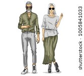 vector woman and man | Shutterstock .eps vector #1005841033