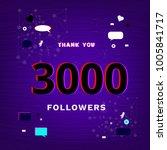 3000 followers thank you post... | Shutterstock .eps vector #1005841717
