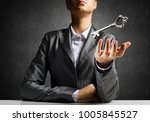 cropped image of businessman in ... | Shutterstock . vector #1005845527