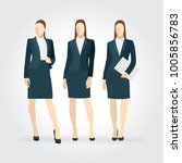 elegant business women in... | Shutterstock .eps vector #1005856783