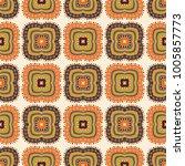 seamless pattern ethnic style.... | Shutterstock .eps vector #1005857773