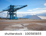 machinery for storing the salt - stock photo