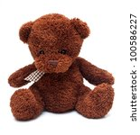Teddy Bear Isolated On White...