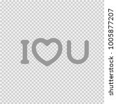 i love you text with heart... | Shutterstock .eps vector #1005877207