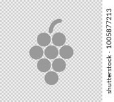 grapes vector icon eps 10.... | Shutterstock .eps vector #1005877213
